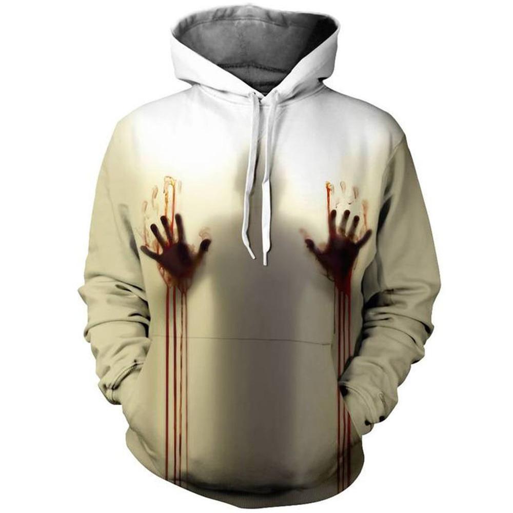 Halloween horror 3D printing polyester spandex hooded  1
