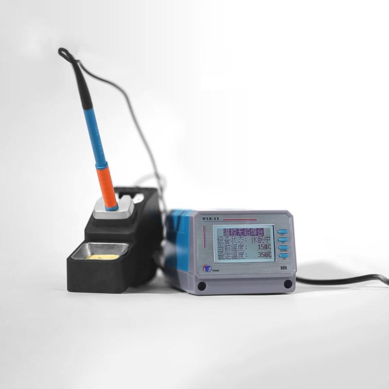 75W Lead-free Soldering Station Intelligent Digital Temperature Control T12-11 Mobile Phone Pcb Board Welding BGA Rework Tools