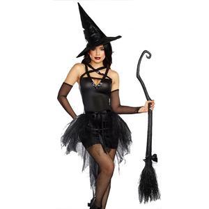 Image 3 - Fantaisie sorcière noire déguisement robe de fête carnaval Performance vêtements déguisement dhalloween déguisement de sorcière Cosplay adulte