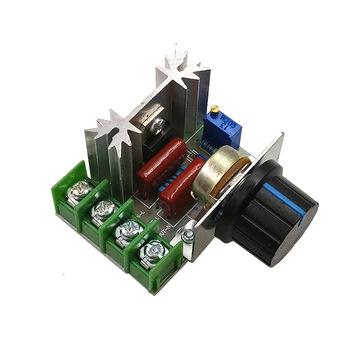 AC 220V 2000W SCR Regulator napięcia ściemniacze ściemniacze Regulator prędkości silnika termostat elektroniczny Regulator napięcia moduł tanie i dobre opinie NONE CN (pochodzenie) JEDNOFAZOWE other piece 0 05kg (0 11lb ) 1cm x 1cm x 1cm (0 39in x 0 39in x 0 39in)