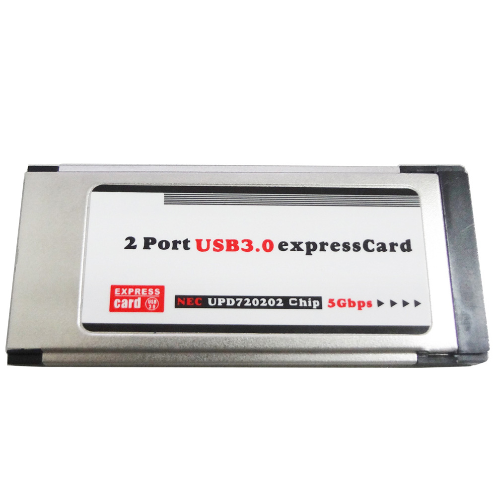 Durable Computer Notebook High Speed  Adapter Stable Home Converter 2 Port 34MM Accessory Express Card Laptop USB 3.0