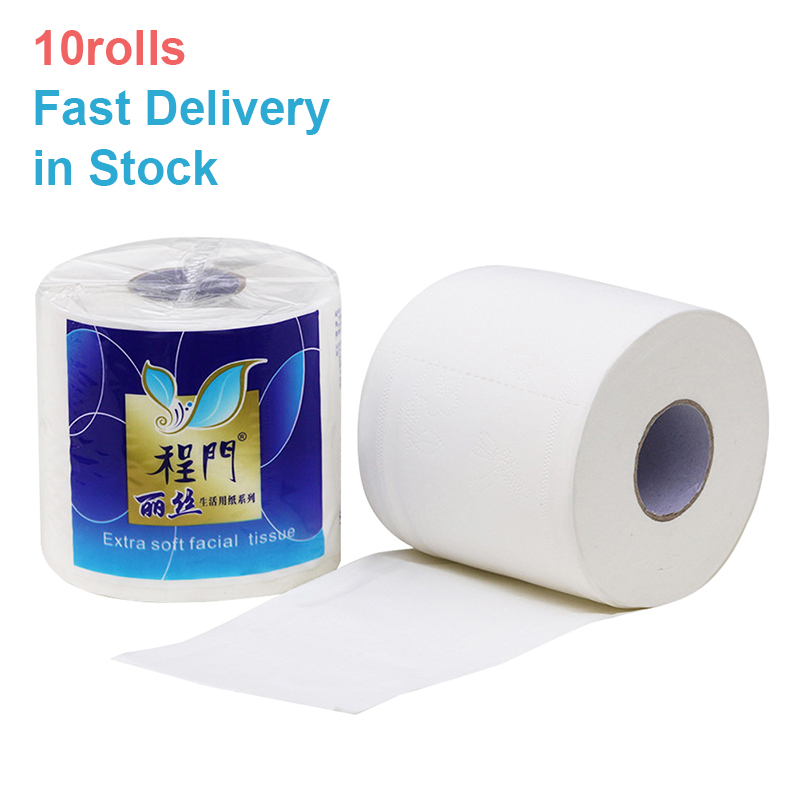 Silky & Smooth Soft Premium 3-Ply Toilet Paper Home Kitchen Toilet Tissue Highly Absorbent Hand Towels For Daily Use 10 Rolls