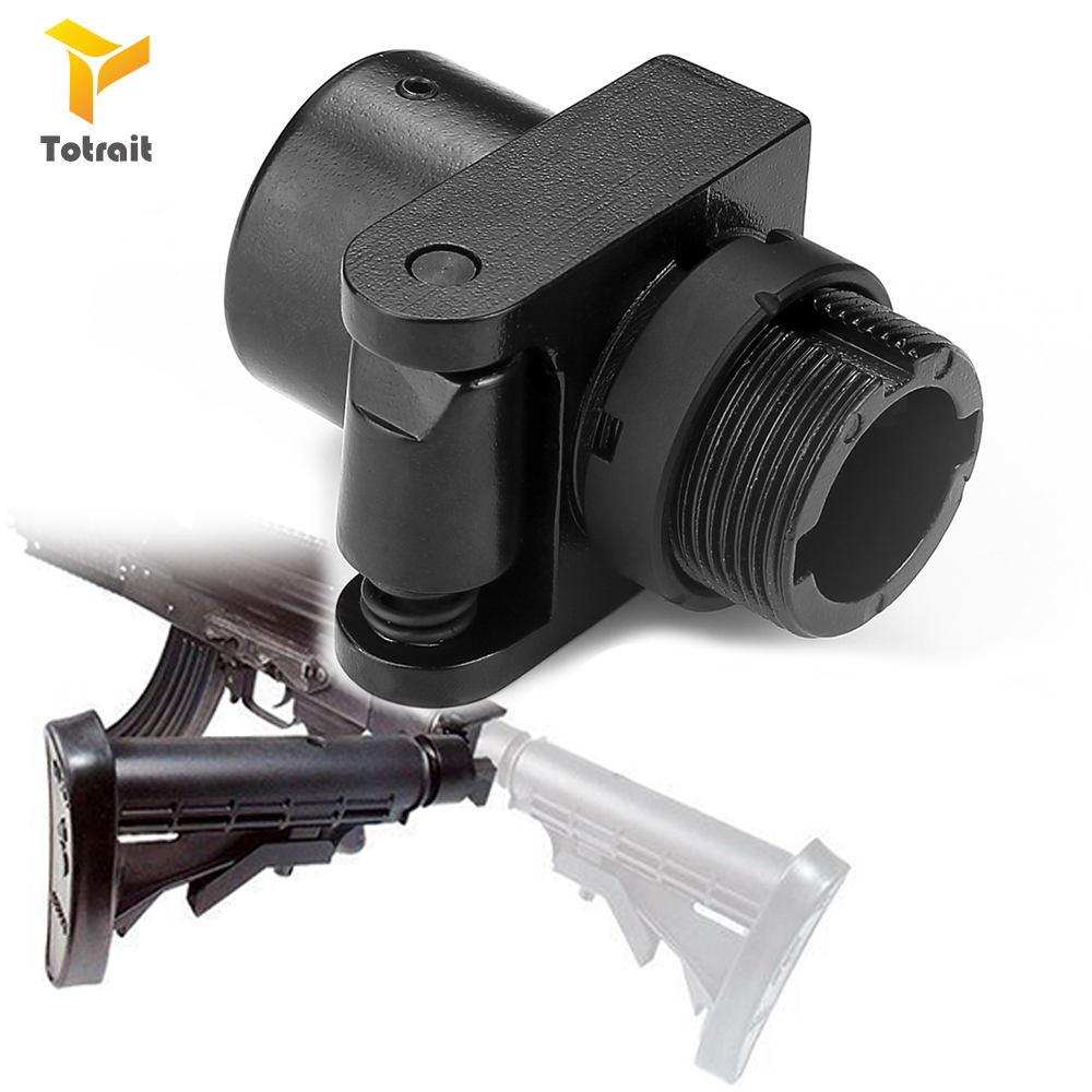 Totrait Tactical AK Side Folding Butt Stock Adaptor Mount Fit For AR15 AKs M4 A2 Hunting Accessories