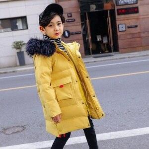 Image 5 - OLEKID 2019 30 Graden Rusland Winter Kinderen Jongens Jas Hooded Warm Down Jas Voor Jongen 7 14 Jaar tiener Jas Kinderen Parka