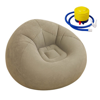 Inflatable Lounge Chair Folding Bean Bag Air Filling Lazy Sofa Set for Indoor Living Room Bedroom Outdoor Sofa Bed with Air Pump green sofa chair outdoor bean bag furniture set with foot stool waterproof beanbag home folding chair