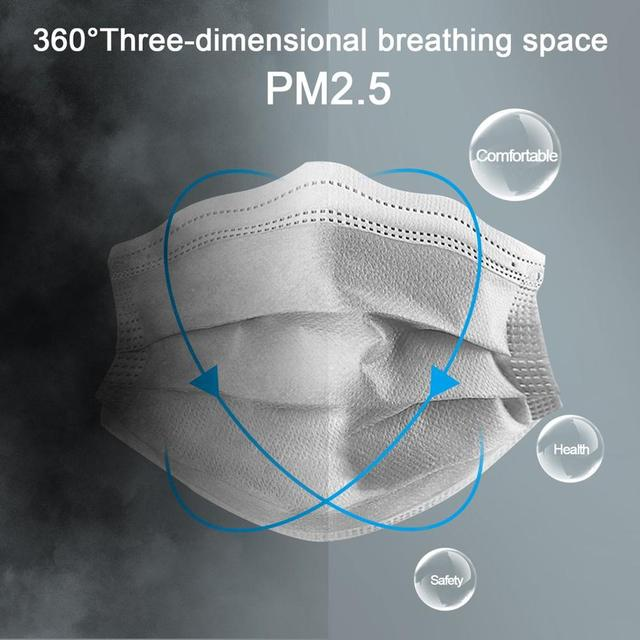 10/50pcs Men Women adult Cotton Anti Dust Mask Activated Filter 3 layers mouth mask muffle Bacteria Proof Flu Face Masks Hot 1