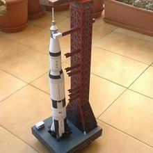 1:300 Saturn V Rocket paper 37 см модель головоломка руководство пространство 3D DIY бумага Оригами художественная игрушка