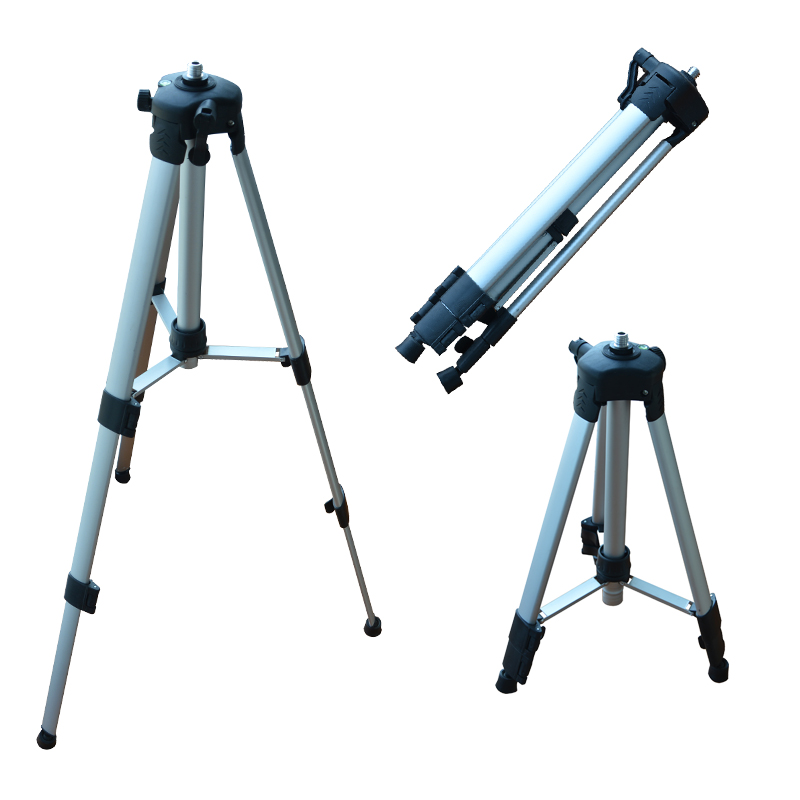TECLASER Laser Level Aluminium Alloy Tripod 5/8 Adapter Tripod Laser Distance Meter Tripod Tool Adjustable Height 1.2/1.5/2.0 M