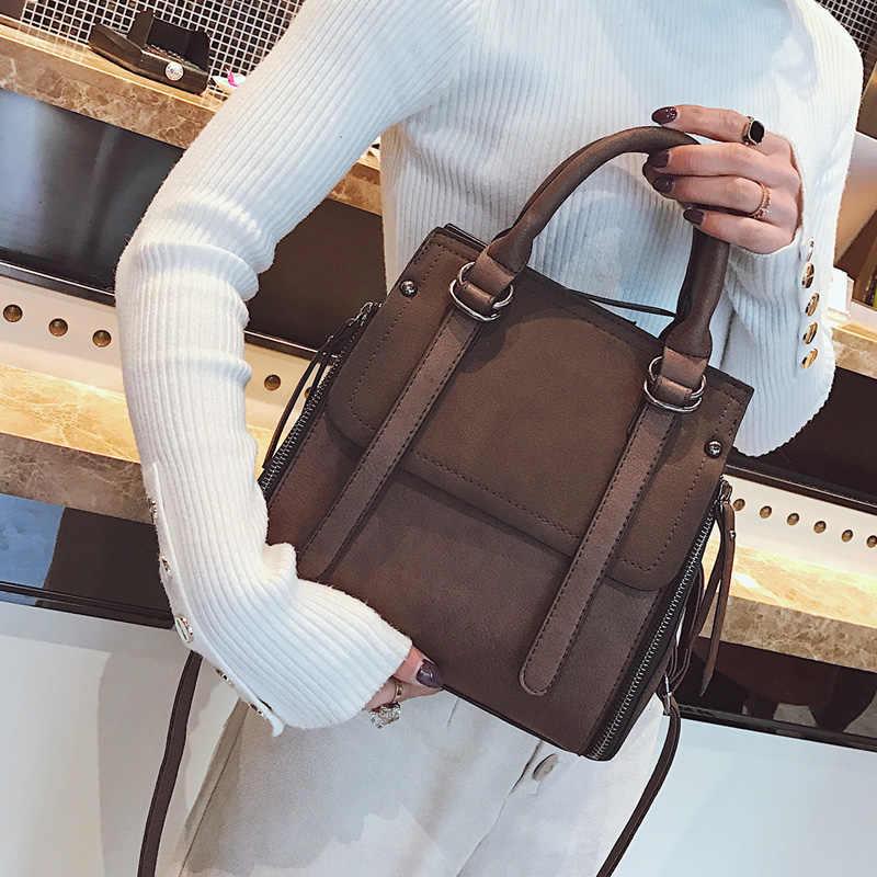 Новая Винтажная Дизайнерская Женская Роскошная сумка 2019 женская сумка-портфель из искусственной кожи Женская Повседневная Большая вместительная сумка через плечо Bolso Mujer