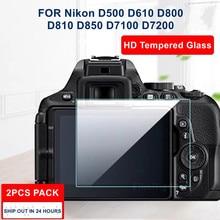 2PCS Kamera Original 9H Kamera Gehärtetem Glas LCD Screen Protector für Nikon D7200 D7100 D810 D800 D850 D500 d610 D600 Kamera