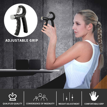 5pcs Spring Hand Grip Power Strength Expander Set Gym Fitness Adjustable Hand Grip Muscle Recovery