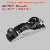 180mm European Carbon Steel Hand Wood Planer Easy Operated T10 alloy steel blade Diy Woodworking Tool