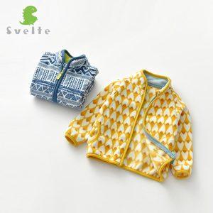 Image 4 - SVELTE için 2 7 yıl sevimli çocuk ve bebek erkek polar ceket bahar için sonbahar kış giysileri baskı ile desen