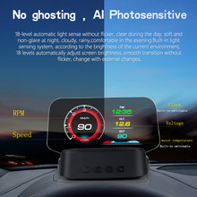 Universal Car Hud Display Obd + Gps Head Up Display High Definition Snelheidsmeter Auto Diagnostische Fault Code Veilig Rijden Alarm c2