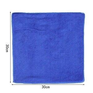 Image 4 - Nowy 50 sztuk ręcznik do mycia samochodu niebieski Anti Scratch szybkoschnący czyszczenie z mikrofibry wielofunkcyjny przyjazny dla skóry myjnia samochodowa 30*30cm