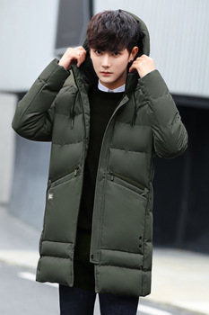 Winter Cotton-padded Clothes Men's Jacket Korean-style Waist Hugging Thick Cotton-padded Jacket Casual Men'S Wear Teenager фото