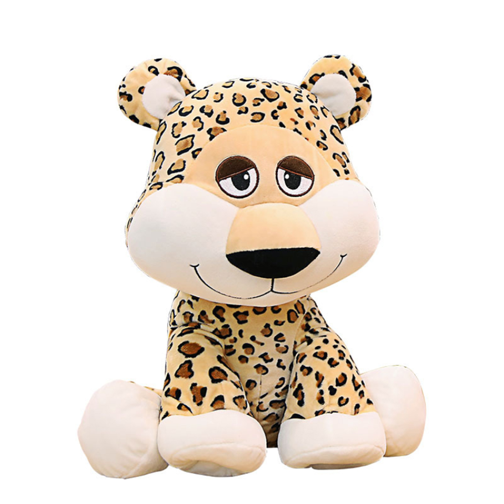 35cm 50cm Simulation Leopard Panther Plush Toy PP Cotton  Cartoon Cute Simulation Stuffed Animal Classic Toys For Children Gift
