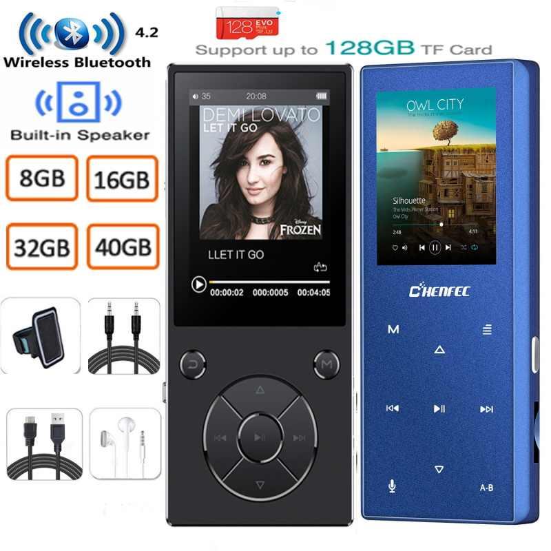 MP3 プレーヤー Bluetooth エージェント Bulit スピーカー金属 h ロスレス音楽プレーヤー FM ラジオ、電子書籍ウォークマンサポート tf 64/128 ギガバイト