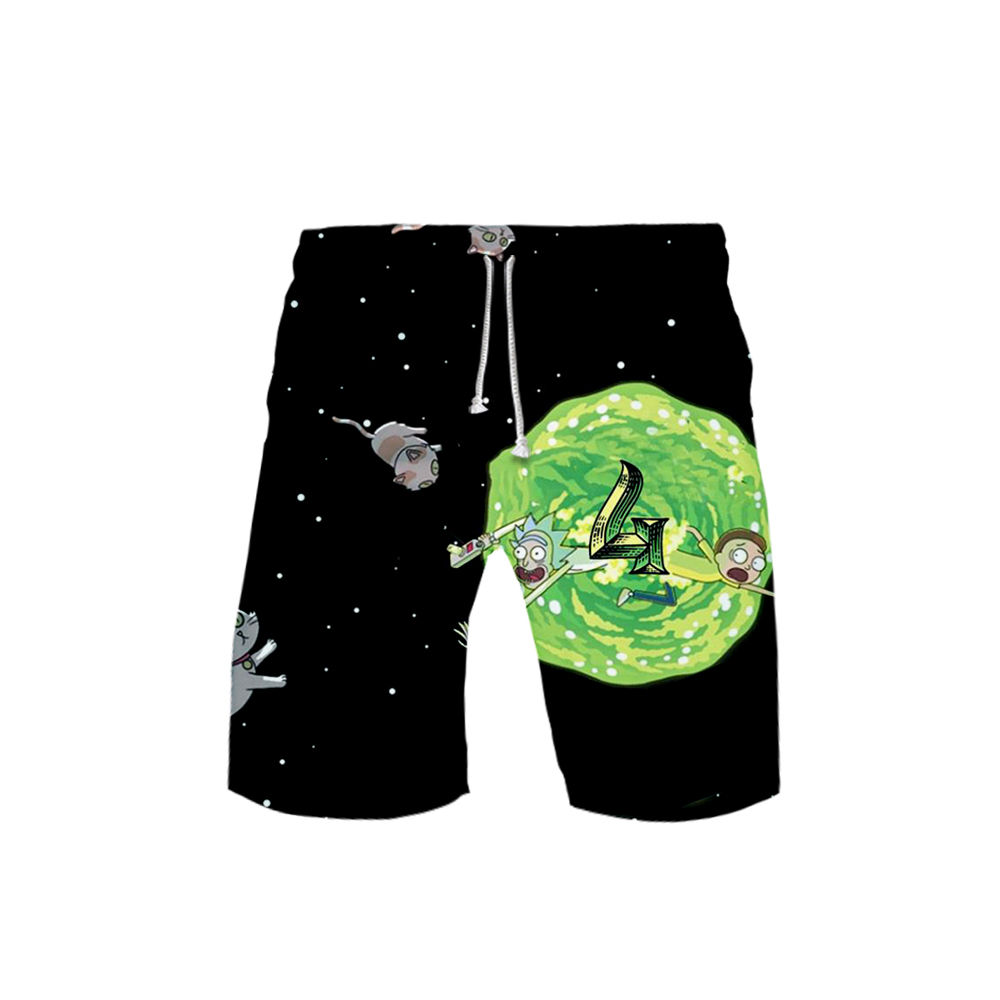 Rick And Morty 3D Printed Beach Shorts Men Fashion Streetwear Shorts Hot Sale 2019 Harajuku Trendy Summer Wear