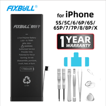 FIXBULL Battery For iPhone 5S 5C 6 6S 7 8 Plus X 6Plus 6SPlus 7Plus 8Plus Replacement Bateria Real High Capacity For iPhone5S yinuoda american tv riverdale series cole sprouse coque shell phone case for iphone 6s 6plus 7 7plus 8 8plus x xs max 5 5s xr