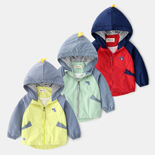 New 90-130cm Cute Dinosaur Hoodie Spring Autumn Kids Jacket for Boys Outerwear Coat Girls Windbreaker Children Clothing