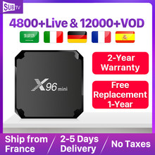 X96 Mini France IPTV récepteur Android 7.1 2GB 16GB Wifi 4K Support arabe belgique France Portugal turquie Italia IP TV(China)