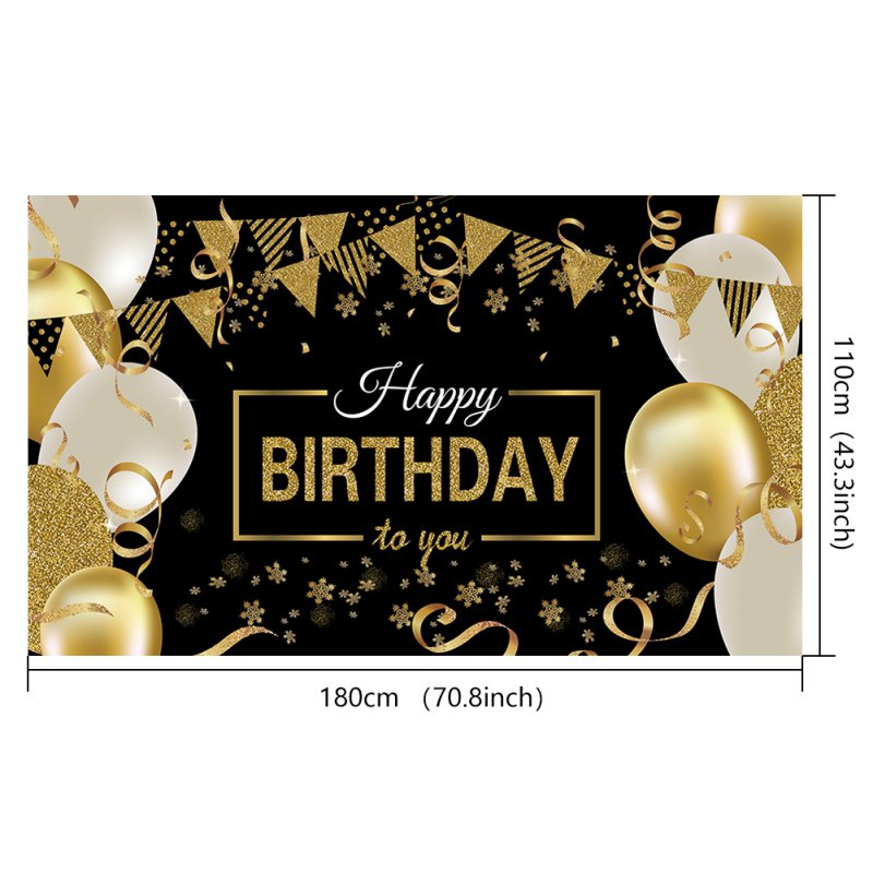 Happy Birthday Backdrop  Photography Background Custom Party Decoration Props Banner