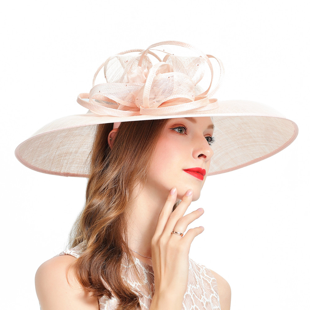 Fascinators For Women Elegant Fedoras Hats British Royal Wedding Church Party Headdress Jockey Club Prom Hat Matching Dress