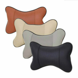 Image 2 - 1PC Mini PU cuir voiture cou oreillers universel voiture appui tête oreiller soutien cou oreiller noir/Beige/gris/marron pour Auto siège de voiture