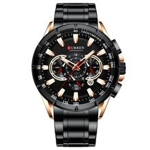 Fashion Men Calendar Watch Luxury Stainless Steel Chronograph