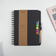 ZYWJUGE A5 Size Spiral Coil Multi-function Notebook Diary sticky notes