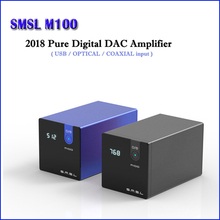 цена на SMSL M100 HI FI USB DAC Decoder AK4452 Digital DAC Audio Amp DSD512 Amplifier Optical Coaxial Input 32bit/768kHz