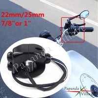 22mm/25mm Motorcycle Handlebar Controller Switches Fog Light On Off Start Horn Button For Harley Yamaha Cafe Racer Chopper