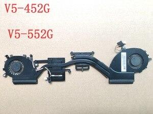 Original para acer aspire v5 V5-452 V5-452G V5-552 V5-552G dissipador de calor ventilador de refrigeração