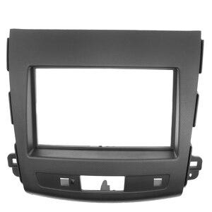 Image 5 - 2Din Car Radio Fascia For Mitsubishi Outlander 2008 2012 Auto Stereo Interface Panel In Dash Mount Frame Kit