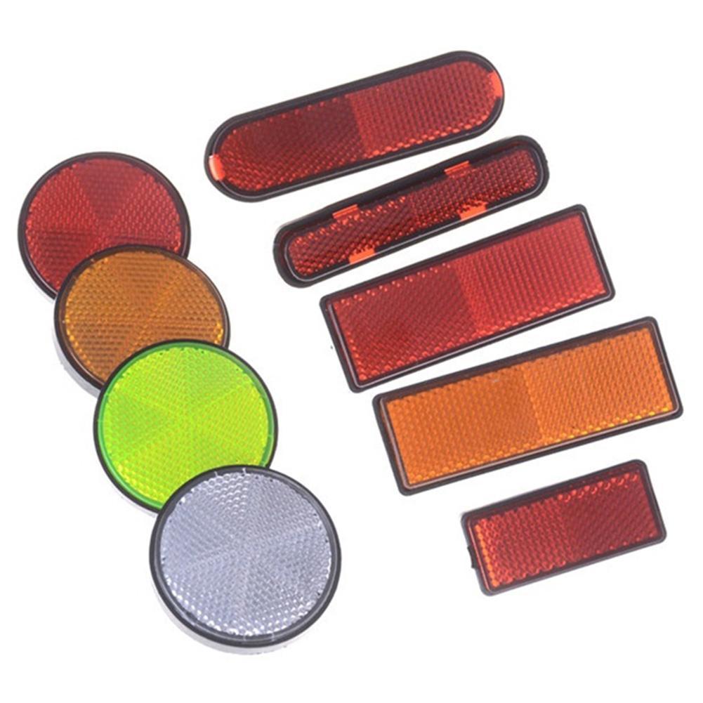Светоотражающая полоса 2 шт., прямоугольный Круглый отражатель для автомобилей, мотоциклов, велосипедов, фургонов, грузовиков