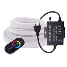 220V 5050 RGB Neon Strip LED Light Full Touch Remote Control