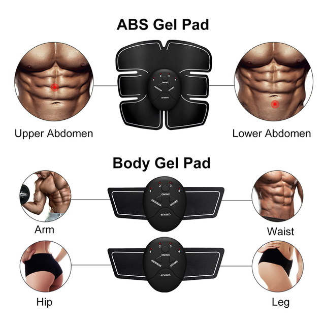 Electric muscle stimulator ems wireless hip buttocks trainer abdominal abs fitness stimulator body weight loss massager 2