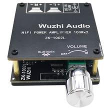ZK 1002L 100WX2 มินิบลูทูธ 5.0 ไร้สาย Audio Power เครื่องขยายเสียงดิจิตอลสเตอริโอ AMP DC 12V 24V