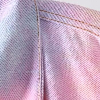 2020 Spring Autumn Women Fashion Vintage Gradient Denim Jacket Casual Loose Jean Coat Female Outerwear Korean Cowboy Tops Ladies 2