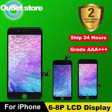 Klasa AAA + + + ekran dla iPhone 6 6S 7 8 Plus LCD z doskonałym ekranem dotykowym 3D Digitizer montaż dla iPhone 5 5S SE wyświetlacz tanie tanio CN (pochodzenie) Pojemnościowy ekran 1920x1080 3 For iPhone 6 6S 6P 6SP 7 7P 8 8Plus LCD LCD i ekran dotykowy Digitizer