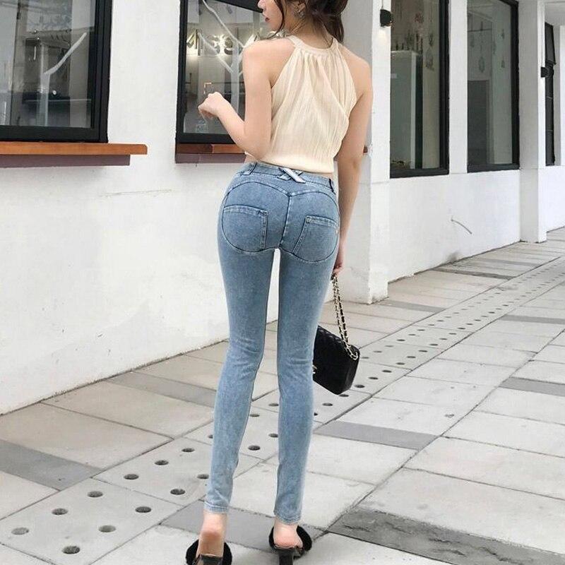 Купить джинсы женские мешковатые зимние дамские облегающие брюки карандаш