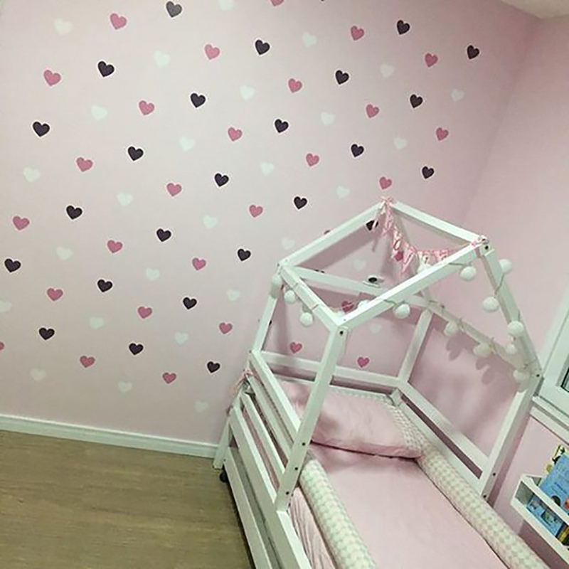 Hearts Wall Stickers Baby Girl Wall Decals For Kids Room Bedroom Living Room Home Decoration DIY Stickers Nursery Room Stickers