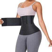 Waist Trainer Snatch Bandage Wrap Tummy Sweat Sauna Trimmer Belt For Women Belly Body Shaper Compression Band Weight Loss Sheath
