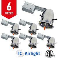 US Plug LED Downlight 6Pcs/lot  TP24 ICAT AC 110V 277V Led housing Bulb Bedroom Kitchen Indoor LED Spot Lighting Downlights     -