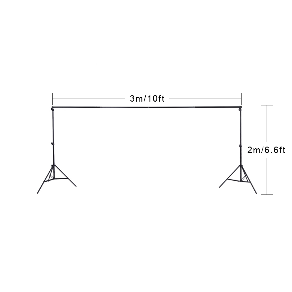 Image 3 - Andoer Photo Studio Background Support Backdrop Crossbar Kit with Two Clamps for Studio 200 * 300cm-in Photo Studio Accessories from Consumer Electronics