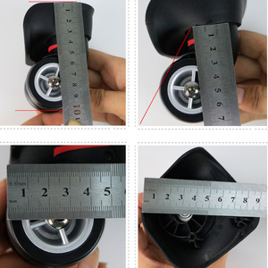 Image 4 - 1 Pair GUGULUZA Replacement Luggage Wheel Repair Suitcase Bag Parts Spinner Wheels Casters for Travel Customs Box W044 W072 W073