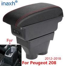 Boîte d'accoudoir 208 – 2012, boîte de rangement, cendrier, accessoires d'intérieur, pièces de rénovation, USB 2018 2017 2016, pour Peugeot 2015