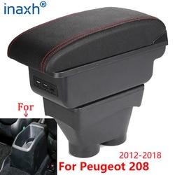 For Peugeot 208 Armrest Box 2012-2018 Storage box Car Holder Ashtray Interior accessories Retrofit parts USB 2017 2016 2015