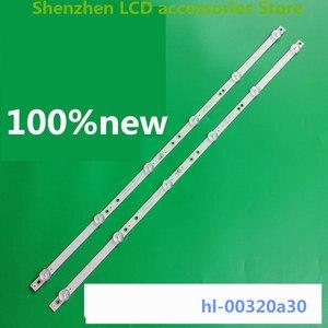 Image 1 - 4 sztuk/partia dla 6 LED HL 00320A30 0601S 07 A1 2 6 silver IP LE32/495523 hl 00320a30 6V 585mm 100% nowy